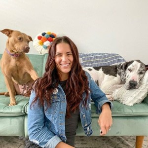 Blog author Chynna Rater and her dogs
