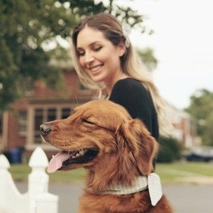Blog author Alley Maassmann and her dog Chance