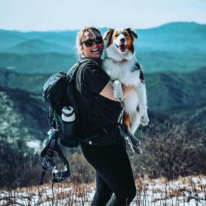 Blog author Candice Scott and her dog Rosie