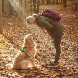 Blog author Rachel Jezowski and her dog