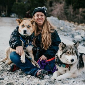 Blog author Stephanie Clemens and her dogs Frankie and Storm