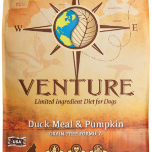 Venture Duck Meal & Pumpkin dog food - front of bag