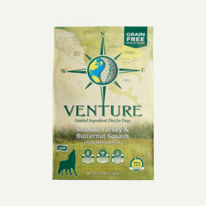 Venture Smoked Turkey and Butternut Squash dog food - front of bag