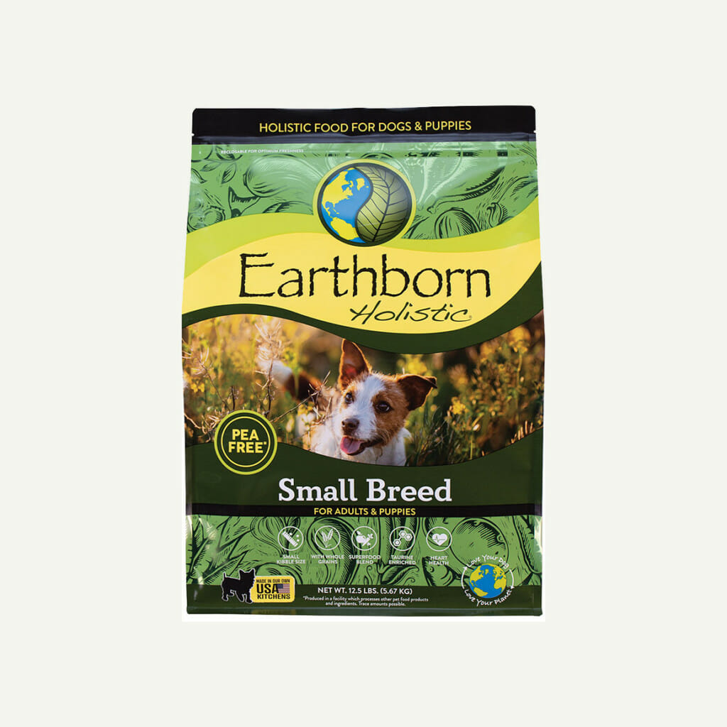 Earthborn Holistic small breed dog food - front of bag