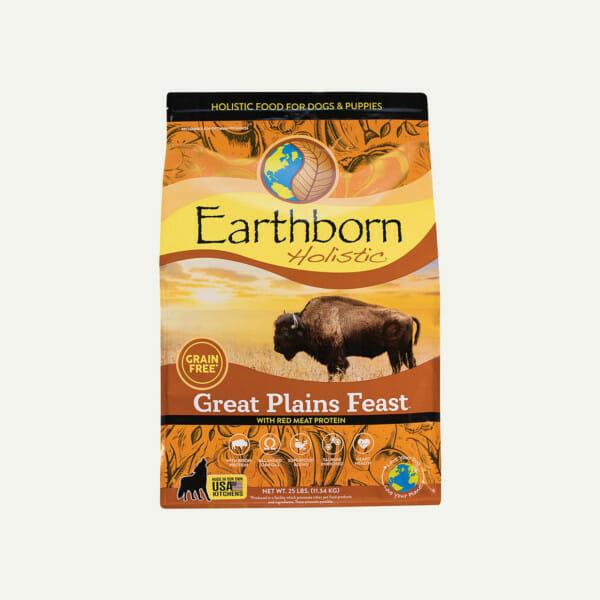 Earthborn Holistic Great Plains Feast dog food - front of bag