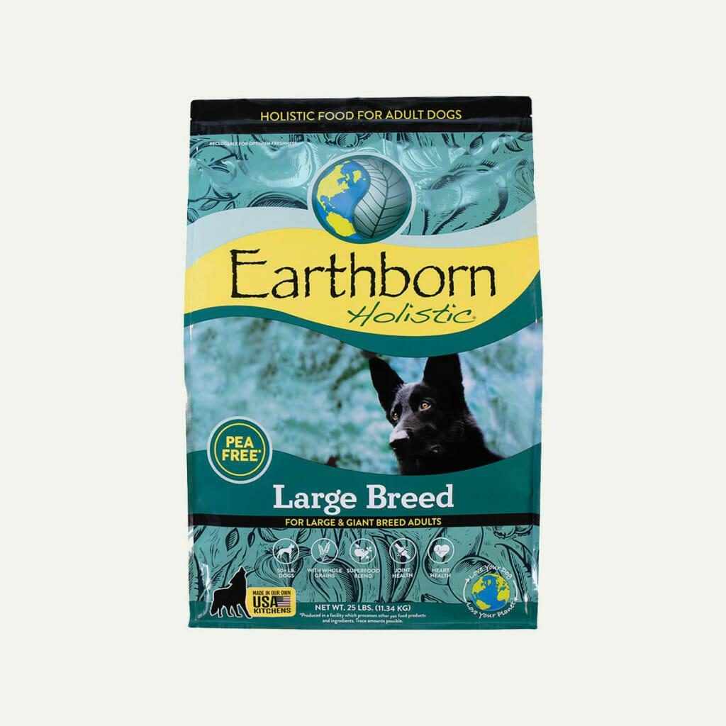 Earthborn Holistic Large Breed dog food - front of bag
