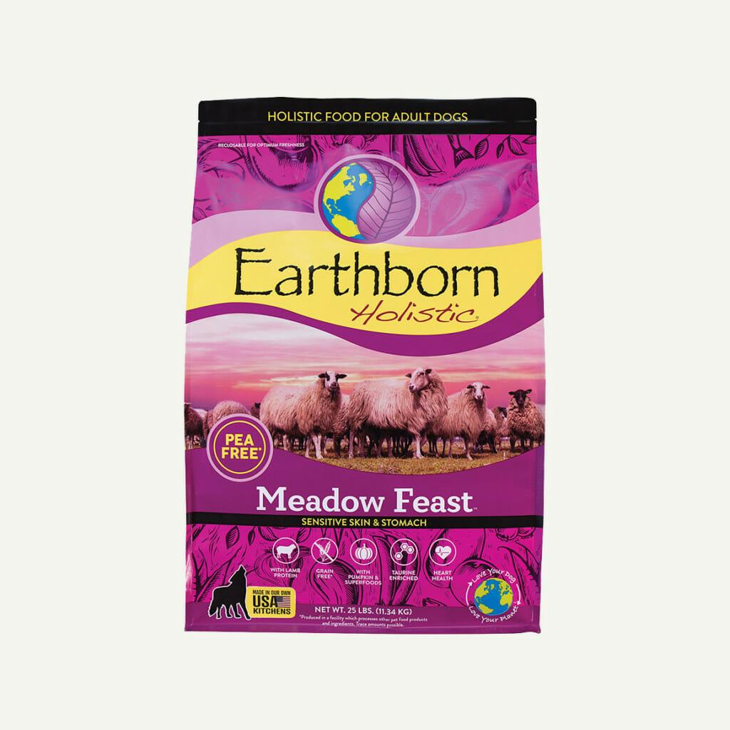 Earthborn Holistic Meadow Feast dog food - front of bag