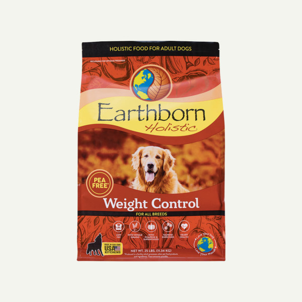 Earthborn Holistic Weight Control dog food - front of bag