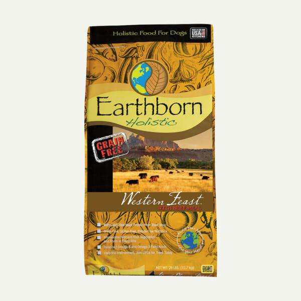 Earthborn Holistic Western Feast dog food - front of bag