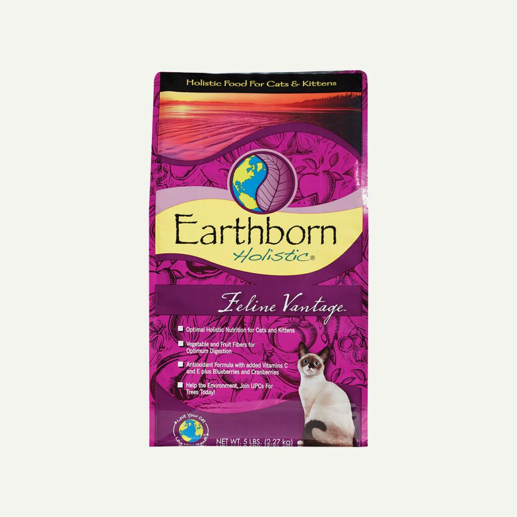 Earthborn Holistic Feline Vantage cat food - front of bag
