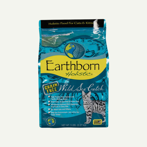 Earthborn Holistic Wild Sea Catch cat food - front of bag