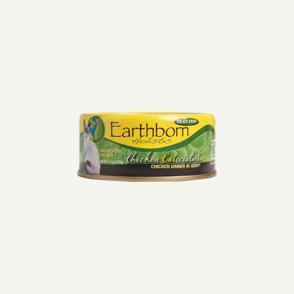 Earthborn Holistic Chicken Catcciatori cat food - front of can