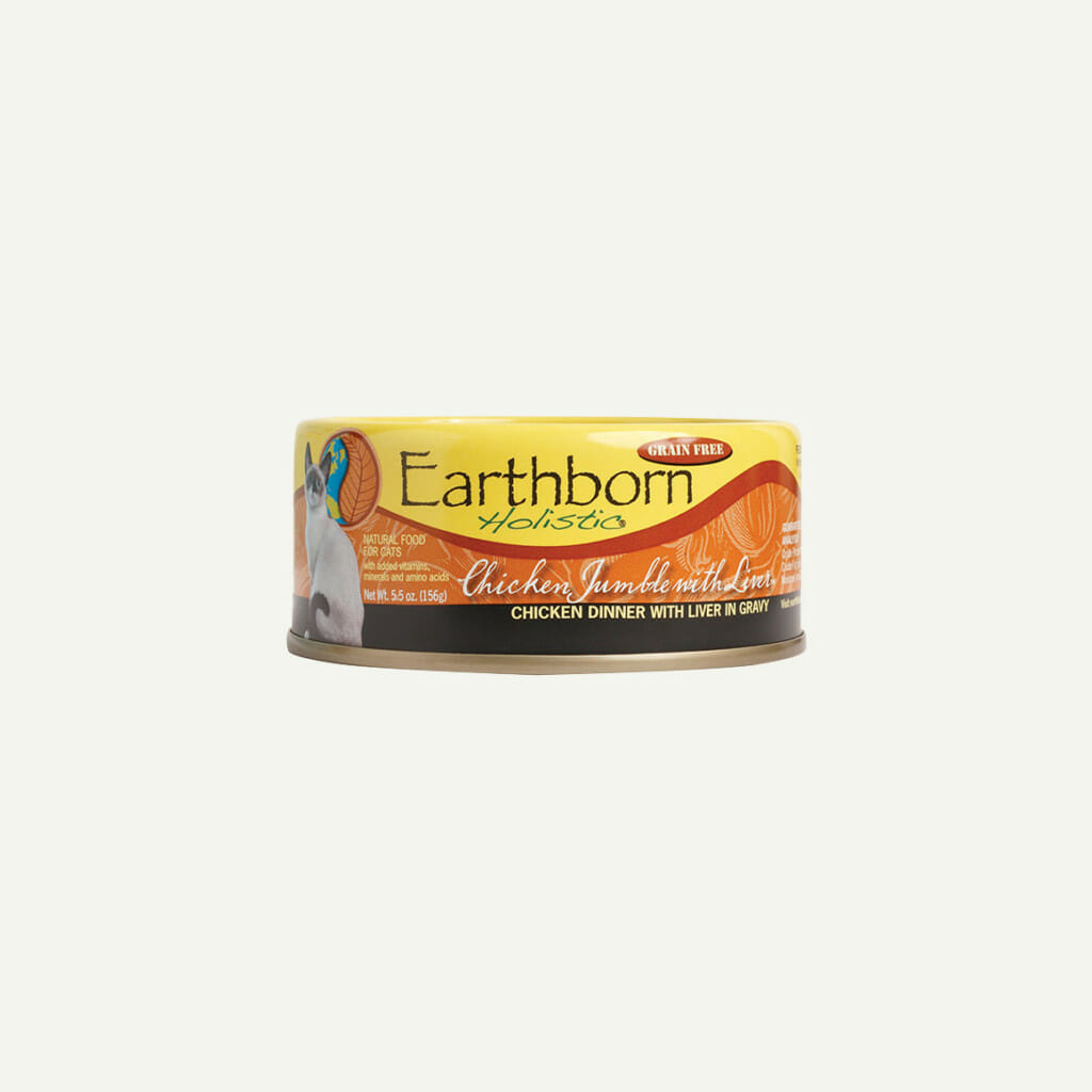 Earthborn Holistic Chicken Jumble with Liver cat food - front of can