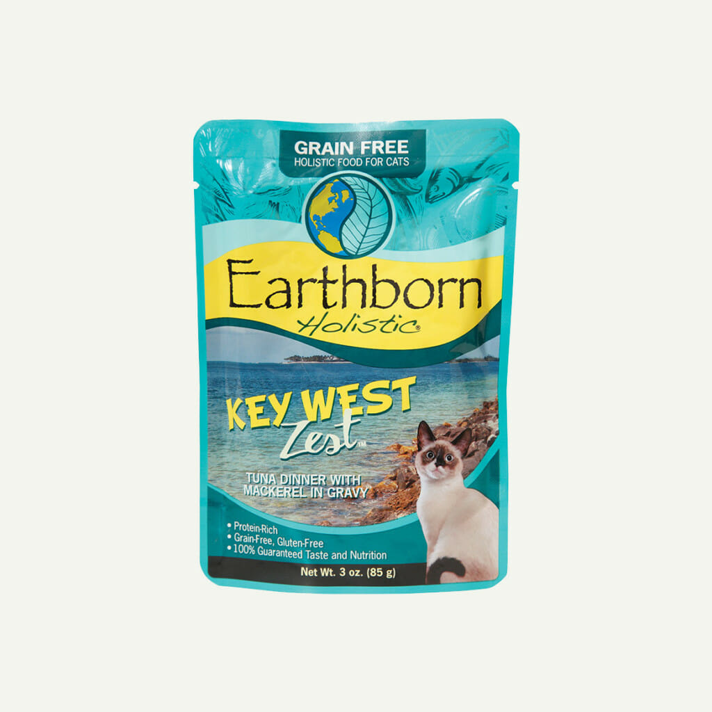 Earthborn Holistic Key West Zest cat food - front of pouch
