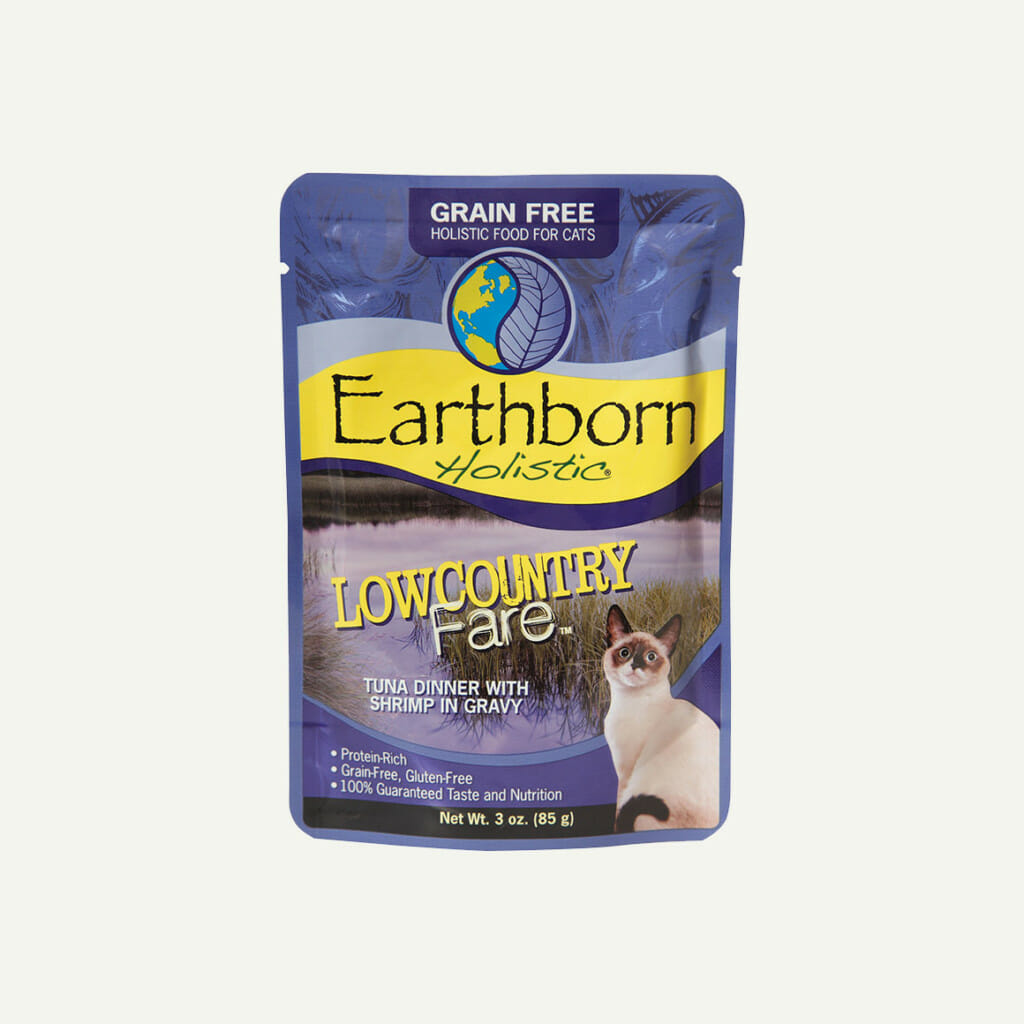 Earthborn Holistic Lowcountry Fare cat food - front of pouch