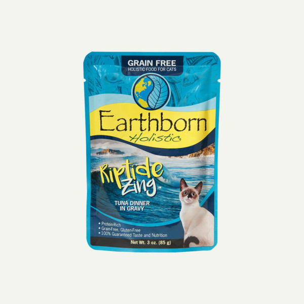Earthborn Holistic Riptide Zing cat food - front of pouch