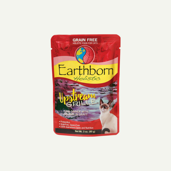 Earthborn Holistic Upstream Grille cat food - front of pouch