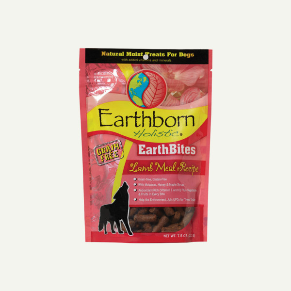 Earthborn Holistic EarthBites Lamb Meal Recipe - front of bag