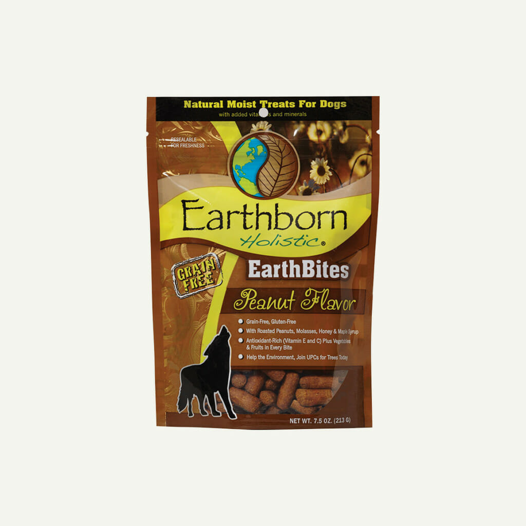 Earthborn Holistic EarthBites Peanut Flavor - front of bag