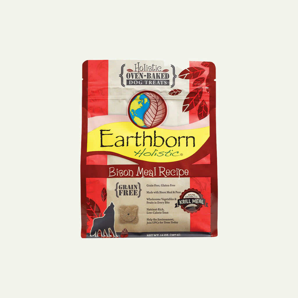 Earthborn Holistic Biscuits Bison Meal Recipe - front of bag