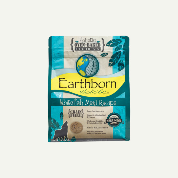 Earthborn Holistic Biscuits Whitefish Meal Recipe - front of bag