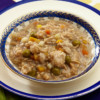 Bowl of Earthborn Holistic Chicken Fricatssee cat food