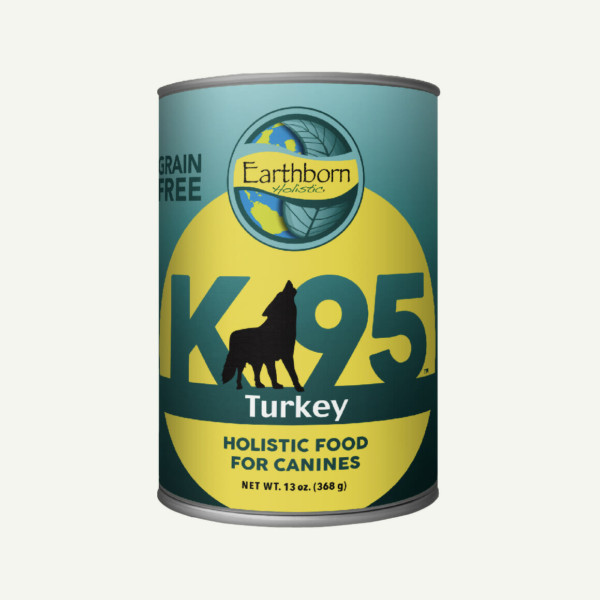 Earthborn Holistic K95 Turkey dog food - front of can