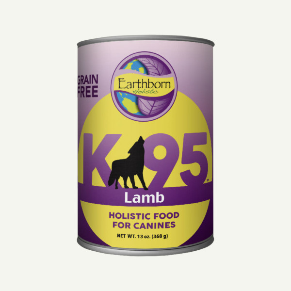 Earthborn Holistic K95 Lamb dog food - front of can