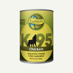 Earthborn Holistic K95 Chicken dog food - front of can