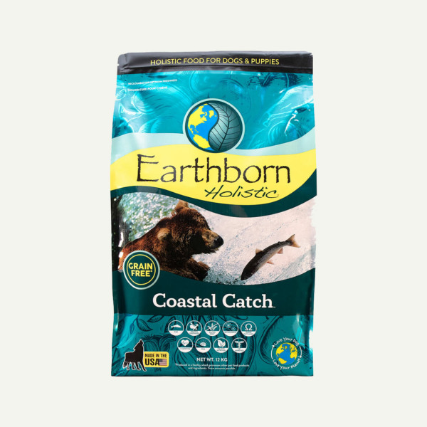 Earthborn Holistic Coastal Catch dog food - front of bag (12kg)
