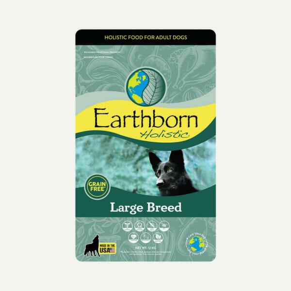 Earthborn Holistic Large Breed dog food - front of bag (12kg)