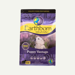 Earthborn Holistic Puppy Vantage dog food - front of bag (2.5kg)