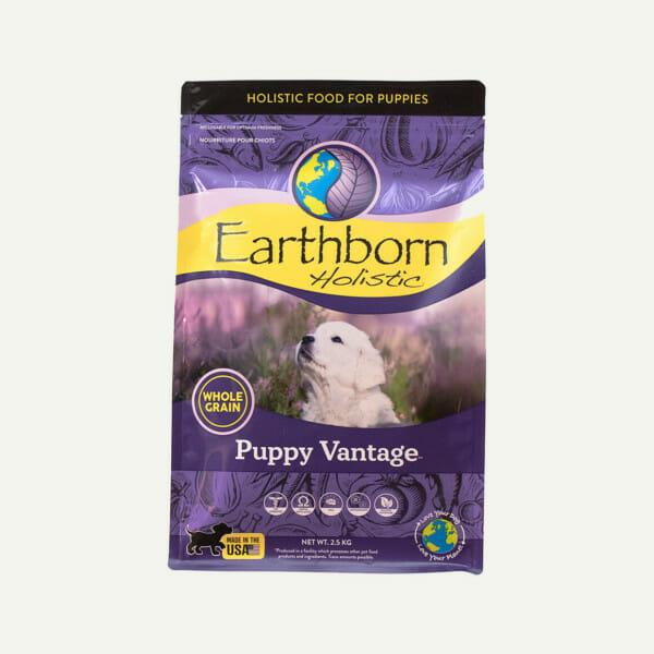 Earthborn Holistic Puppy Vantage dog food - front of bag (2.5kg)