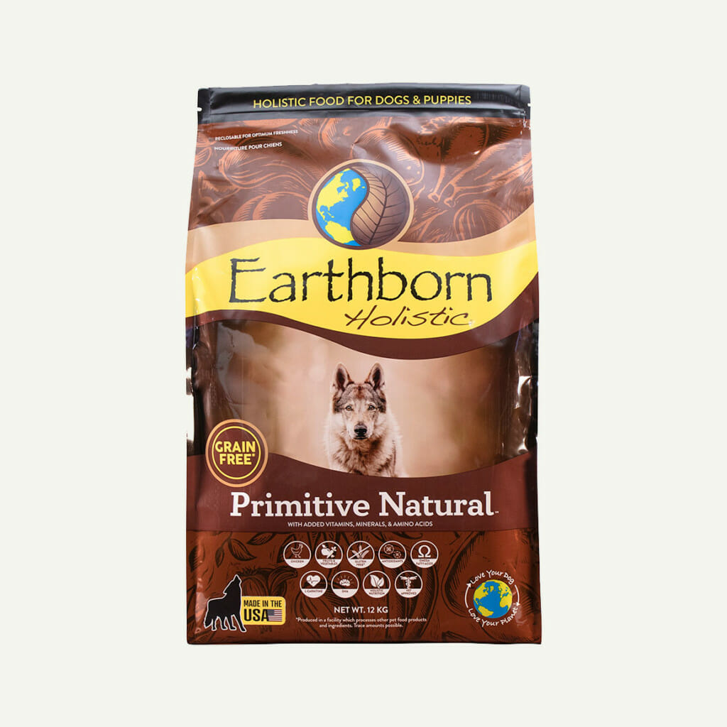 Earthborn Holistic Primitive Natural dog food - front of bag