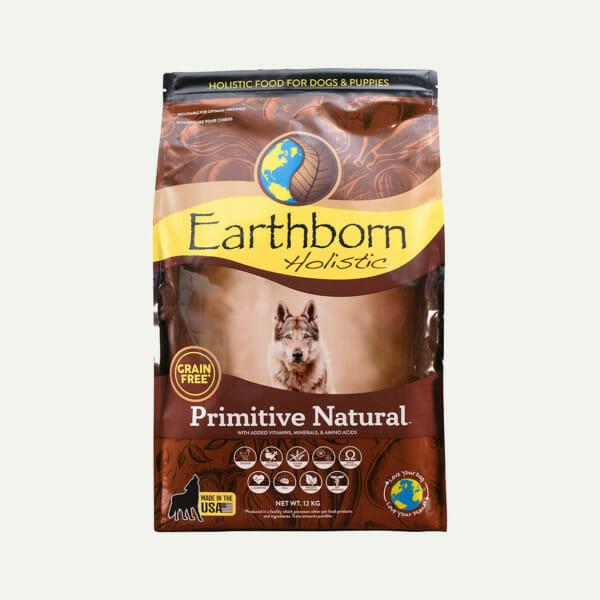 Earthborn Holistic Primitive Natural dog food - front of bag