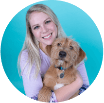 Blog author Brandi Kramer and her dog, Millie