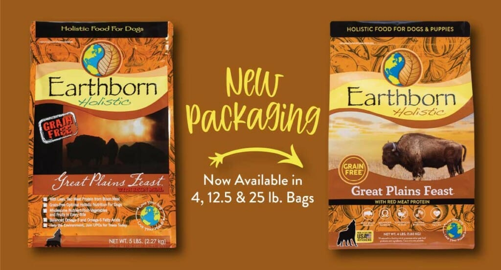 A graphic showing the new Great Plains Feast packaging
