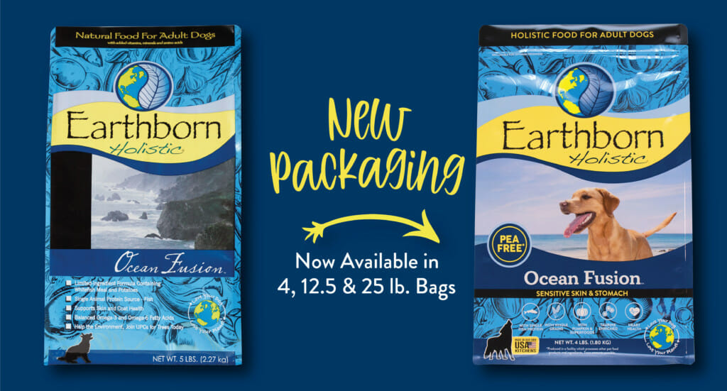 A graphic showing the new Ocean Fusion packaging