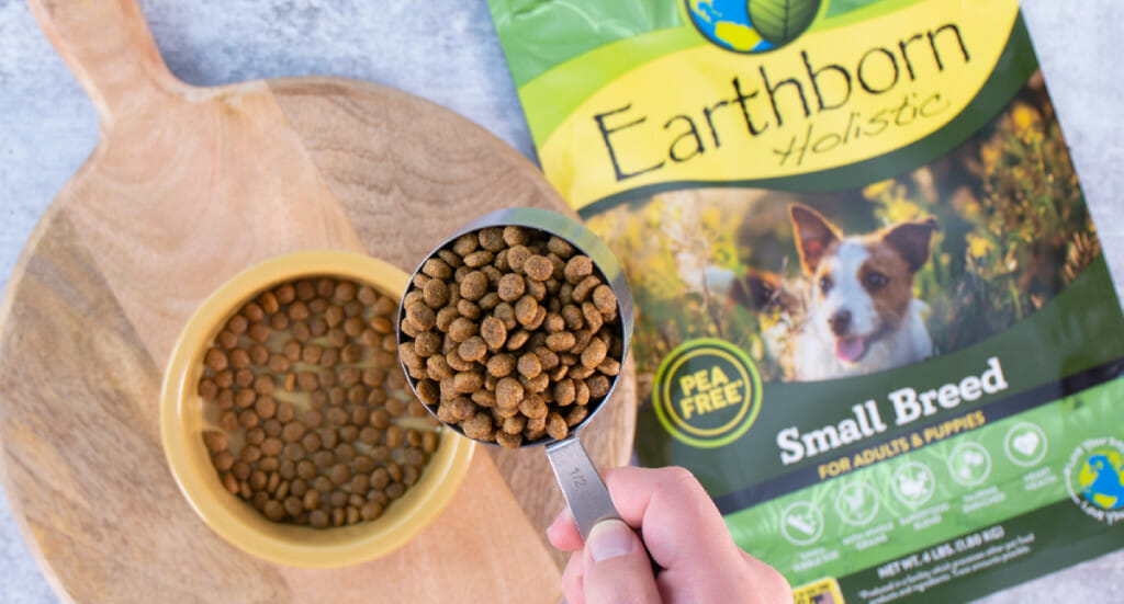 Scoop of Earthborn Holistic small breed dog food