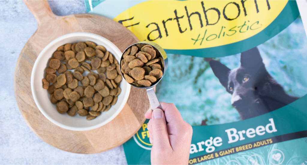 Scoop of Earthborn Holistic Large Breed dog food