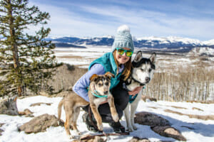 Blog author Marta Sulima and her dogs Koda and Summit