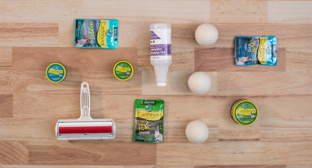 A variety of eco-friendly cleaning products