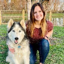 Blog author Diane Nicholas and her dog, Brody